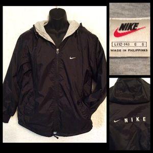 Ladies Black NIKE Hooded Jacket Vintage 90's LARGE